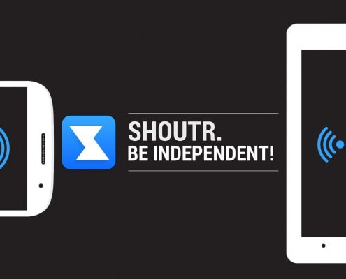 SHOUTR App Be independent Erklärvideo