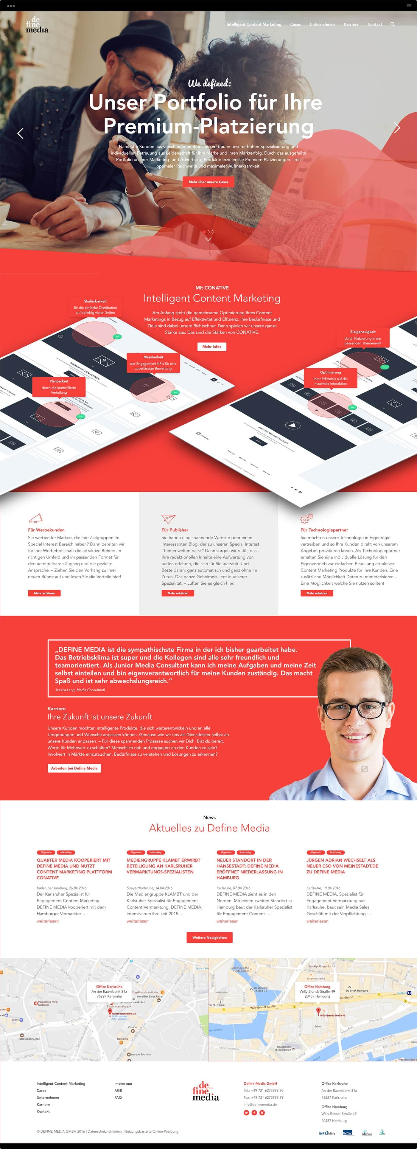 Homepage DefineMedia