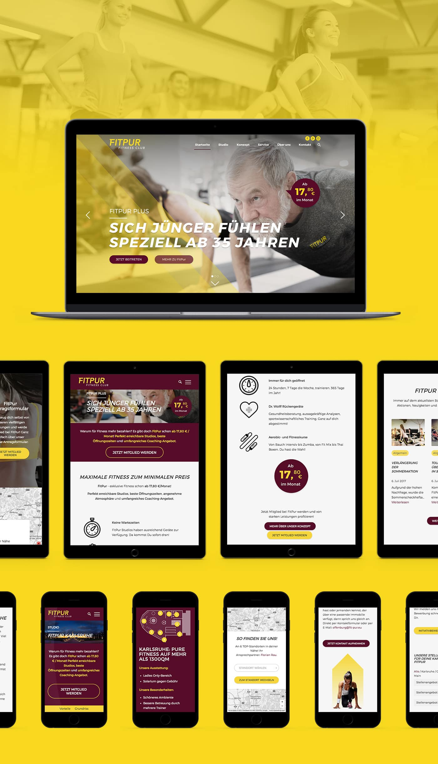 FitPur Studios Responsive Webseite