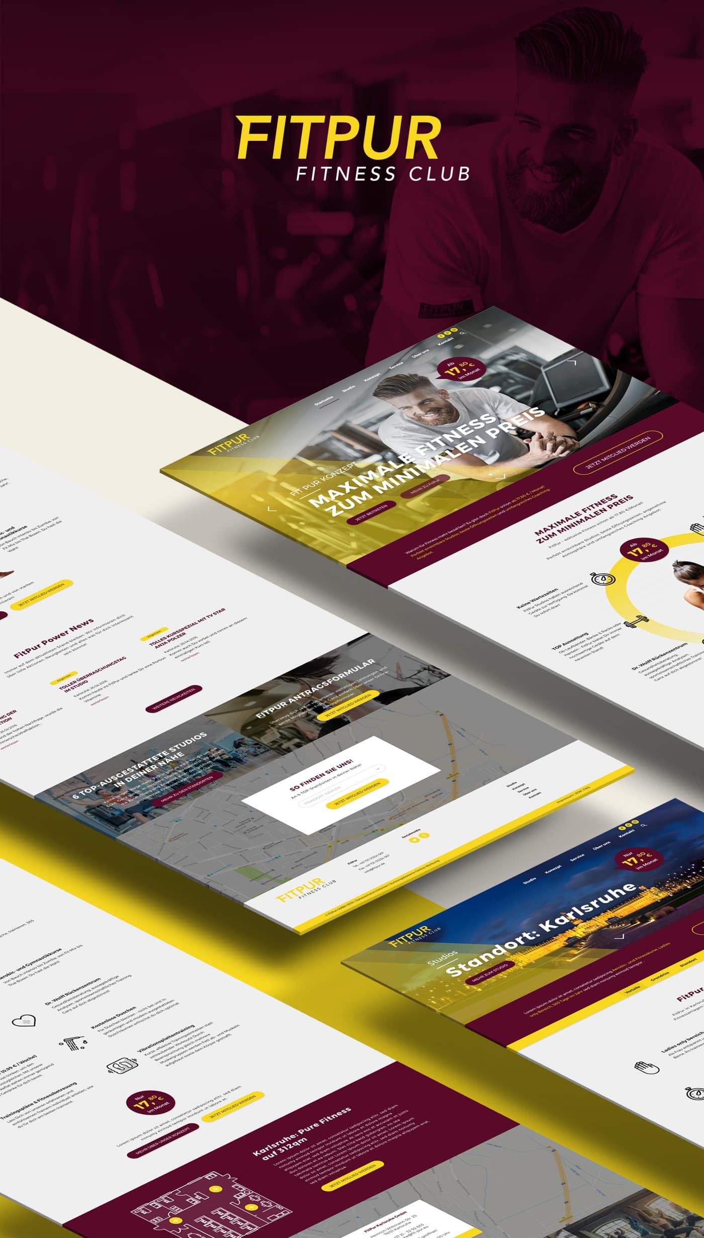 FitPur Studio Unternehmenswebseite