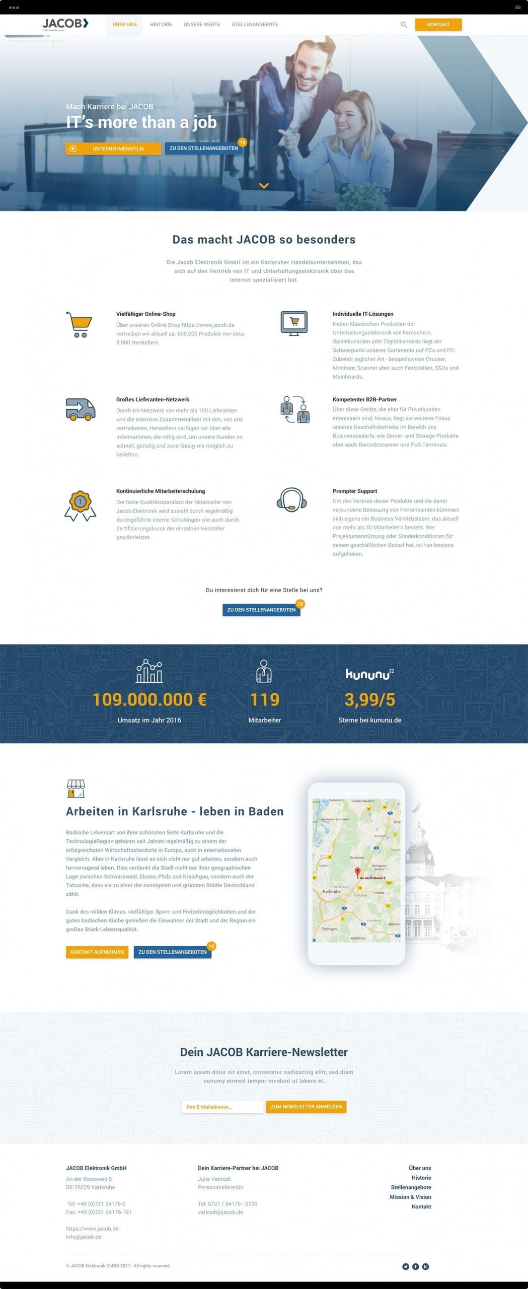 JACOB IT Business Company Webseite