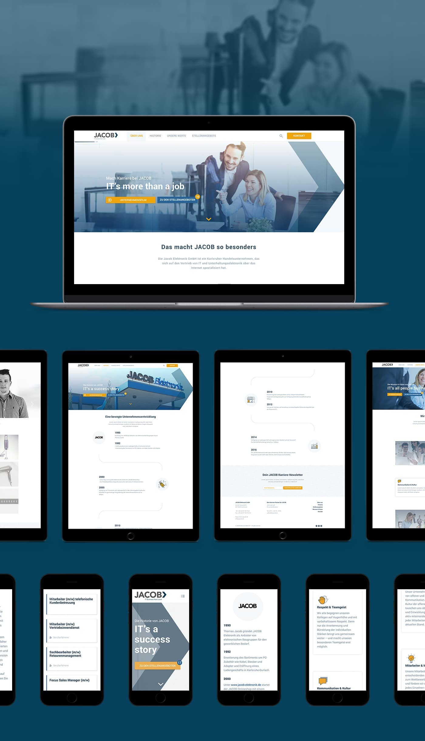 JACOB IT Business Responsive Webseite