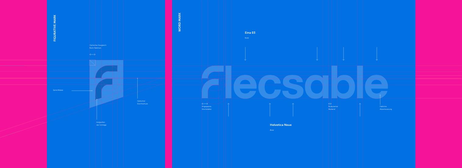 flecsable logo blueprint - Bärenstark - Digitale Lösungen