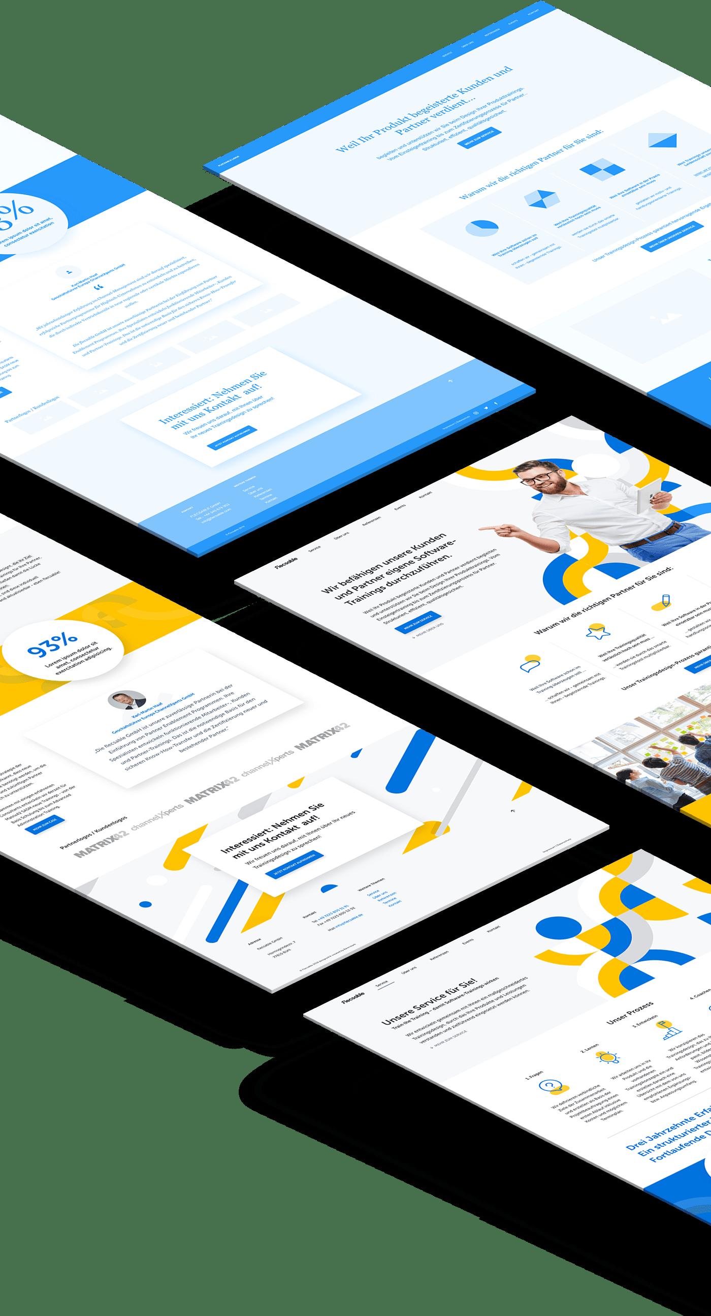 flecsable website - Bärenstark - Digitale Lösungen