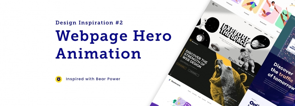 Web Page Hero Inspiration #2