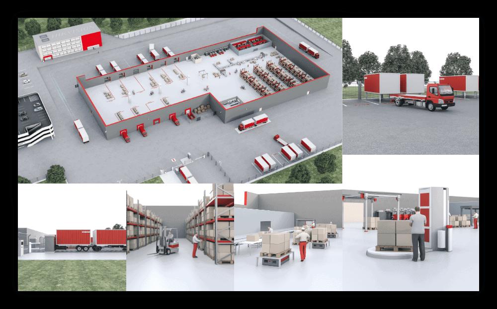 HIKVISION Logistics 3D Visuals