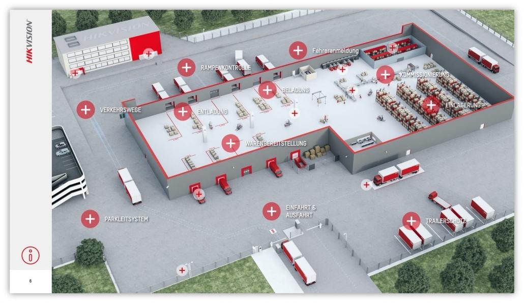 Hikvision Powerpoint Sales Presentation Slides 3D Logistic Visual Overview